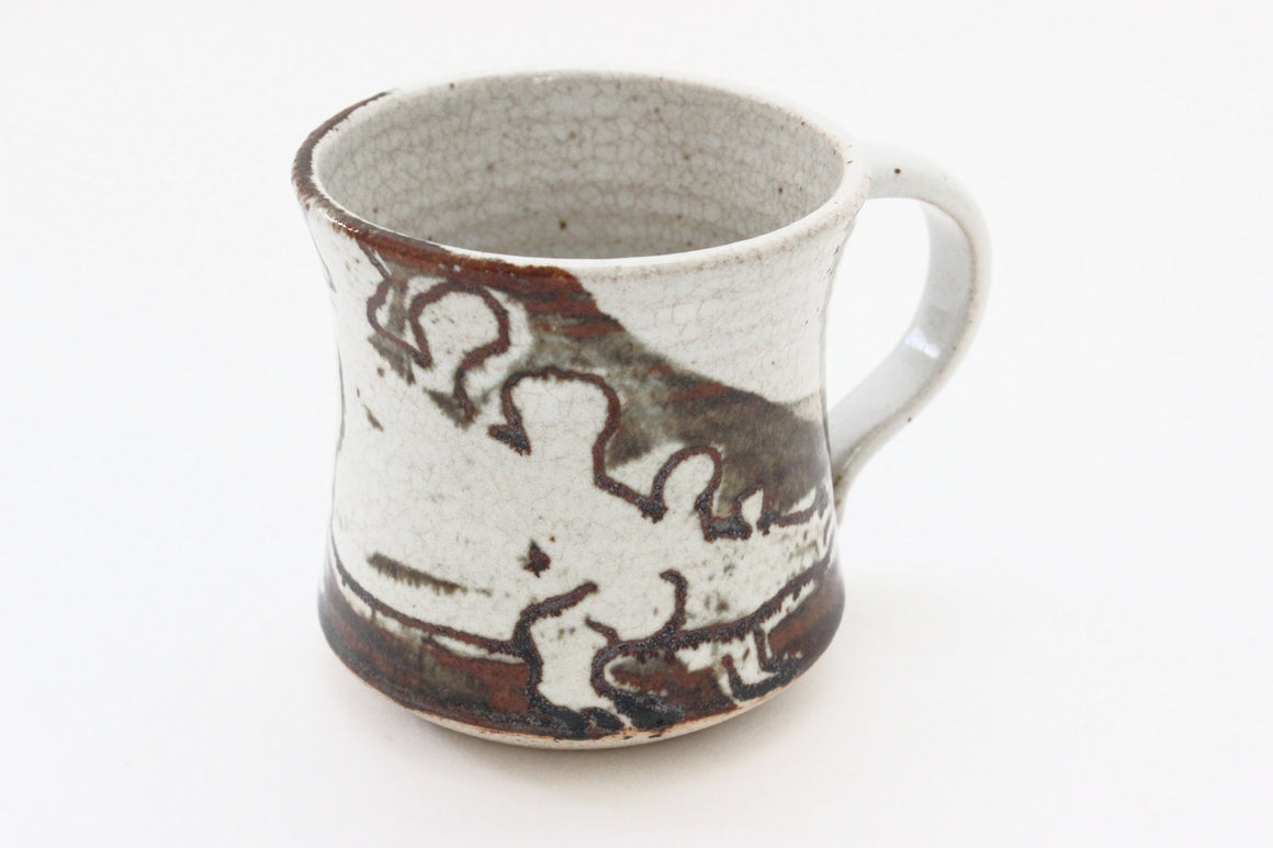 Stoneware Coffee Mug, Unique Vintage Tea Mug, Dinosaur Mug, Gift for Him