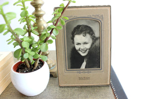 Vintage Photograph, Black & White Portrait