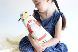 Handmade Doll Pillow, Vintage Children's Toy
