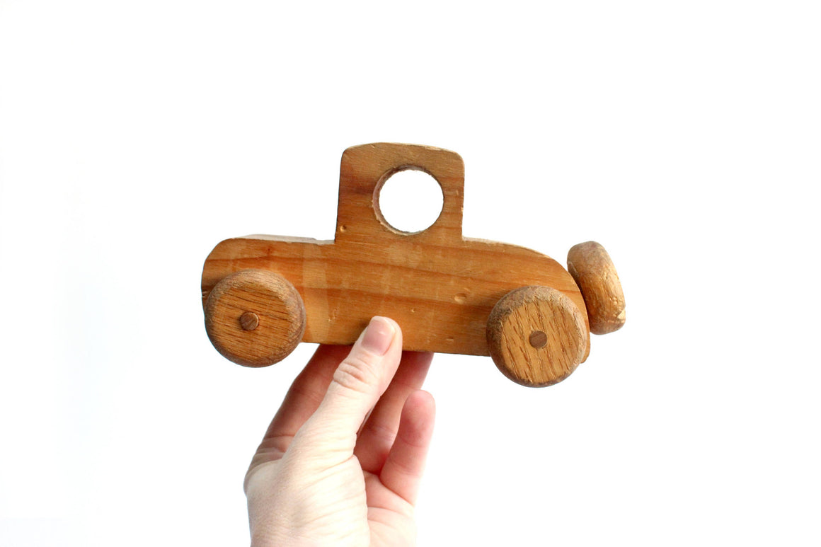 Wooden Toy Car, Primitive Children's Toy