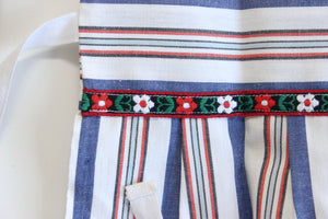 Child's Apron, Vintage Blue & Red Striped Apron