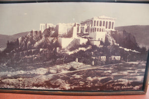 Vintage Panoramic Photograph, The Acropolis of Athens, Black & White Photography