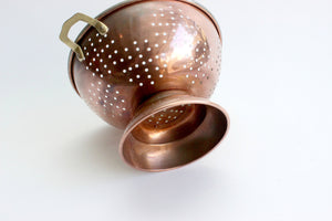 Copper Colander, Vintage Kitchen Strainer