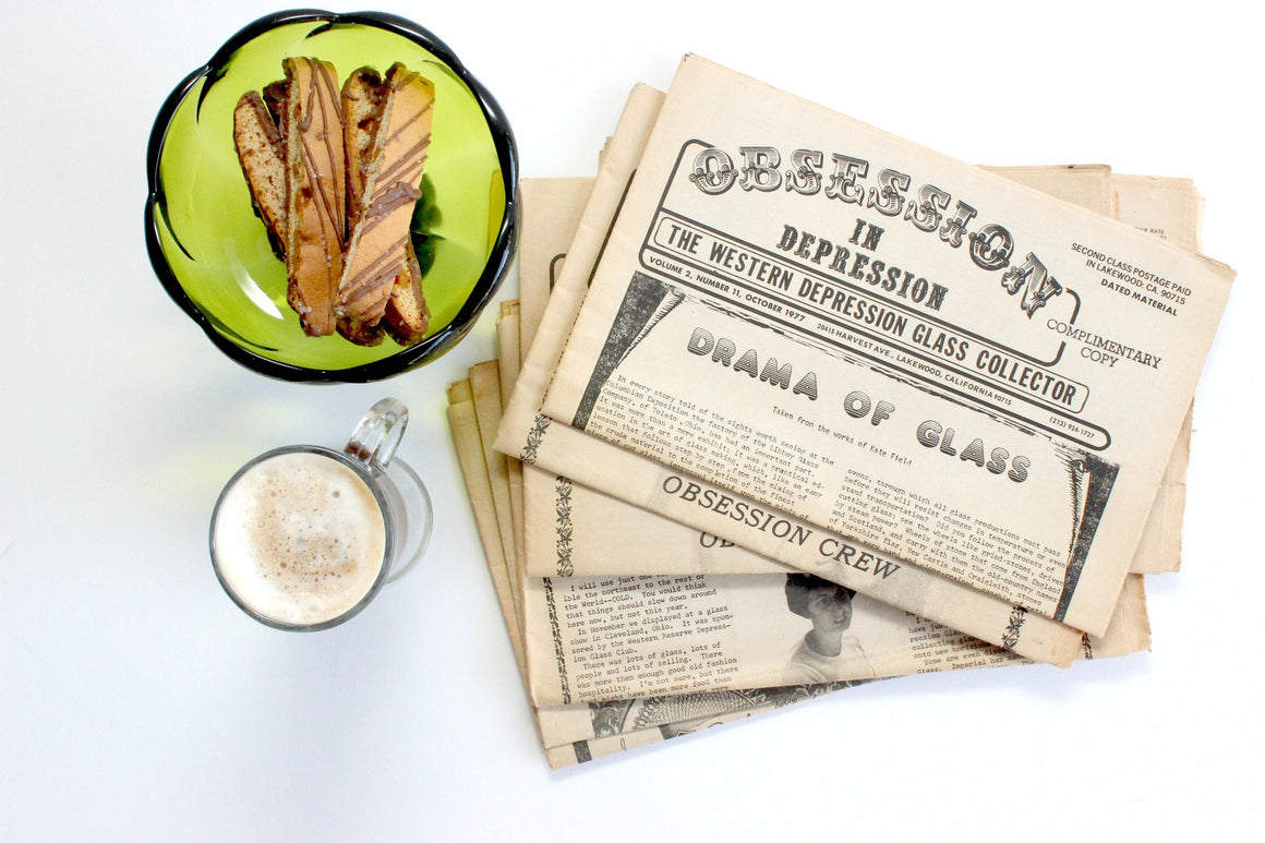 Depression Glass Collectible, Obsession In Depression, Vintage Newsletters