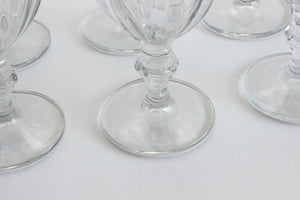 Vintage Water Goblets, Iced Tea Glasses, Ice Cream Cups