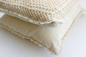 Crocheted Throw Pillows, Decorative Toss Pillows