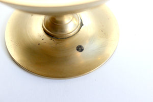 Vintage Brass Pedestal Dish With Lid, Mid Century Modern Home Decor