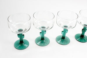 Cactus Stem Margarita Glasses, Vintage Drink & Barware