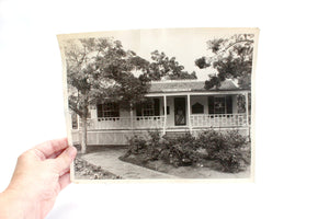 Vintage Black and White Photograph, Original Photo, Pioneer Home of the Mother Colony, Scrapbooking Supply