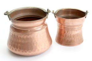 Vintage Copper Buckets, Kitchen Decor, Planters