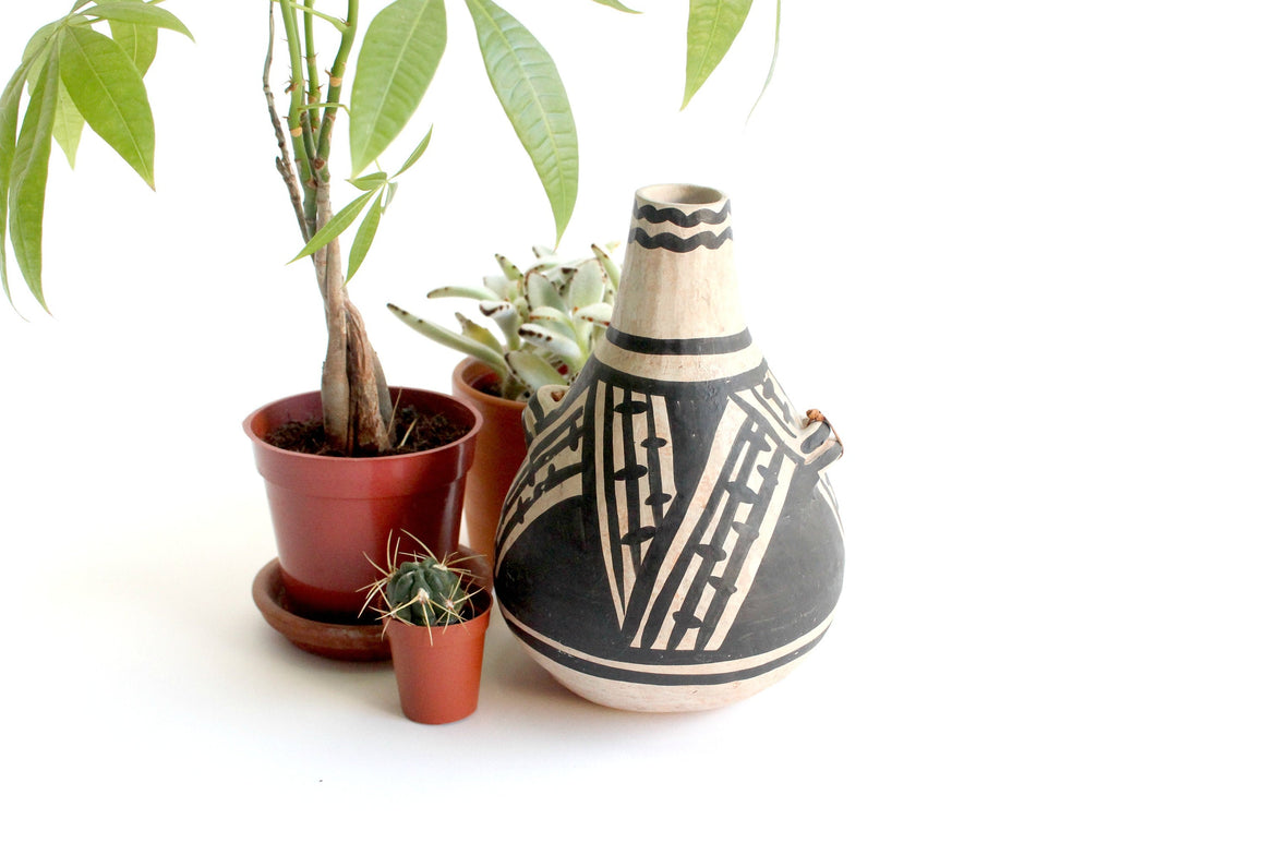 Anasazi Rain Blossom Canteen, Native American Jug, Southwest Decor