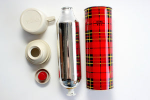 Vintage Red & Black Plaid Thermos, 1973 King-Seeley Thermos