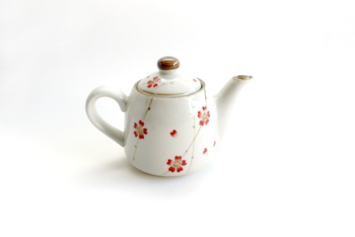 Vintage Floral Teapot, Porcelain Teapot, Serving For One