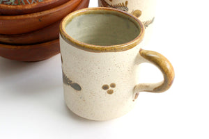 Vintage Hand Painted Coffee Mugs, Tea Mugs, Made in Mexico