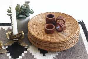 Carved Wood Napkin Rings, Boho Style Dining