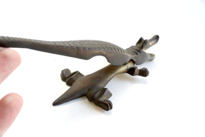 Vintage Brass Alligator Figurine, Animal Lover's Gift