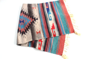 Mexican Area Rug, Small Hand Woven Rug, Bohemian Home Decor