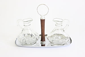 Mid Century Modern Oil & Vinegar Serving Set, Shelton Ware N.Y.C