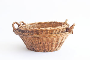 Vintage French Woven Willow Nesting Baskets