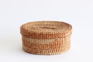 vintage basket with lid