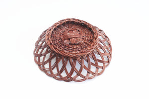 1970s Decorative Woven Wall Basket, Vintage Boho Wall Decor