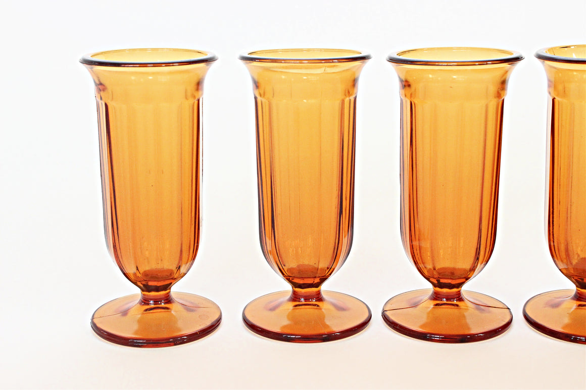 sustainable home decor vintage glassware parfait cups