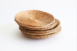 Wicker Paper Plate Holders, Set of 8 Woven Plates