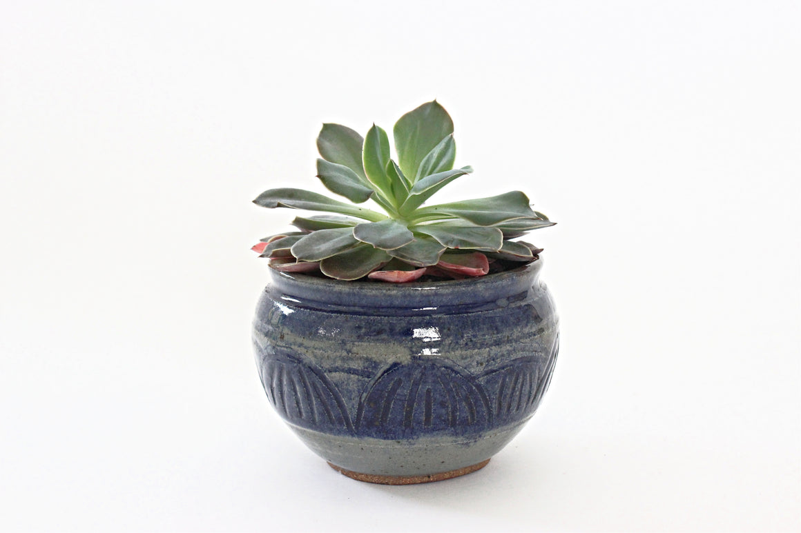 Stoneware Planter Bowl, Small Indoor Planter
