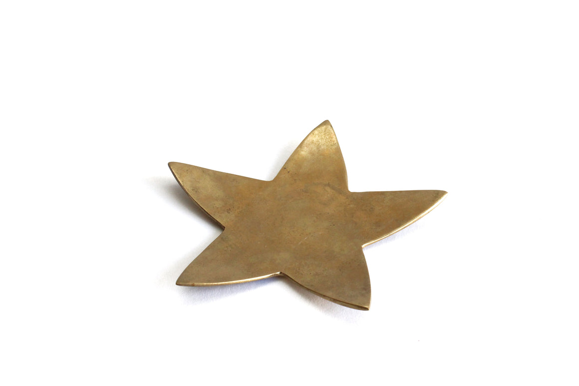 Brass Star Plate, Small Vintage Brass Star, Patriotic Decor, Holiday Decor