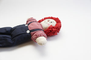 Raggedy Andy, Vintage Handmade Rag Doll, Baby Shower Gift, Nursery Decor