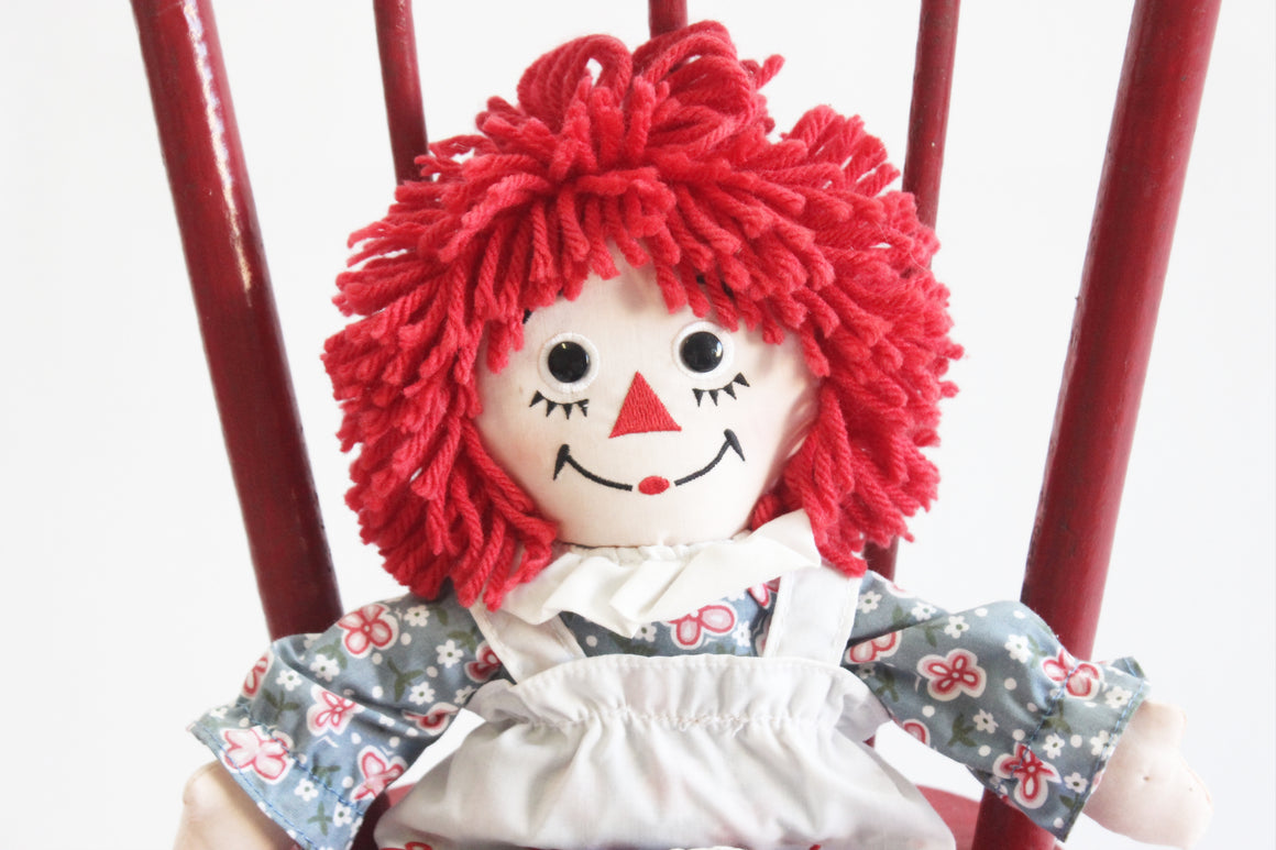 Raggedy Ann Doll, Vintage Rag Doll, Nursery Decor, Baby Shower Gift