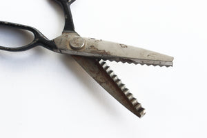 Vintage Jagged Edge Scissors, Crafting Shears