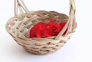 vintage flower girl basket boho wedding