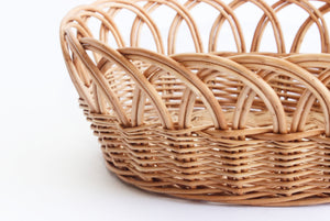 French cottage style wicker kitchen basket