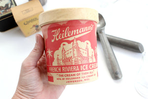 Vintage Ice Cream Carton, Heilemann's French Riviera Ice Cream Carton