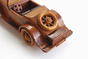 Vintage Automobile Figurine, Wooden Toy Model Car, Kids Room Decor