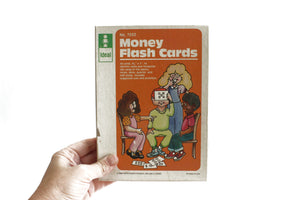 Money Counting Practice Flash Cards, Vintage School Teacher's Supply