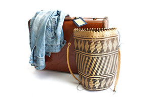 Vintage Woven Handbag, South American Market Bag