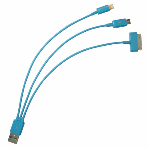 Whip USB cable - Blue