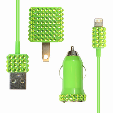 Bling 3-in-1 for iPhone 5 - Green