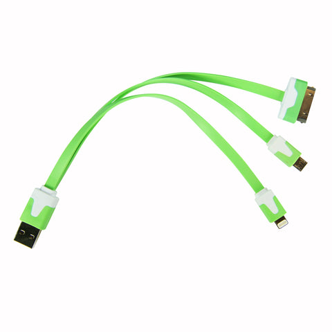 Flat whip USB cable - Green