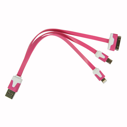 Flat whip USB cable - Dark Pink