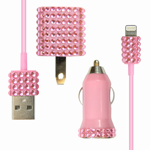 Bling 3-in-1 for iPhone 5 - Pink