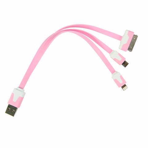 Flat whip USB cable - Pink