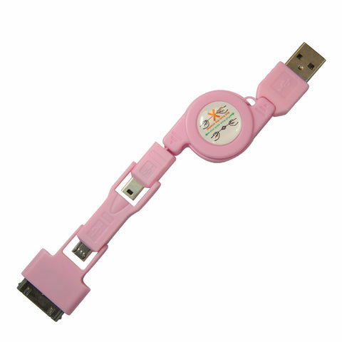 Stacks USB cable - Pink