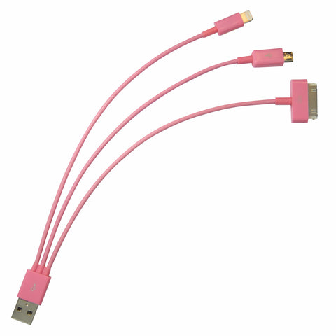 Whip USB cable - Pink