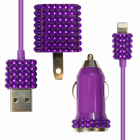 Bling 3-in-1 for iPhone 5 - Purple