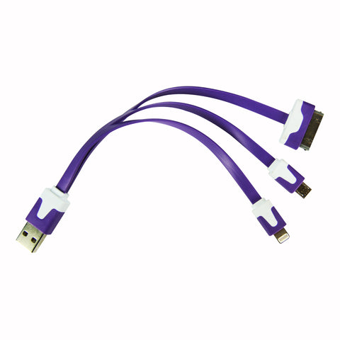 Flat whip USB cable - Purple