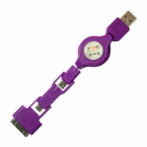 Stacks USB cable - Purple