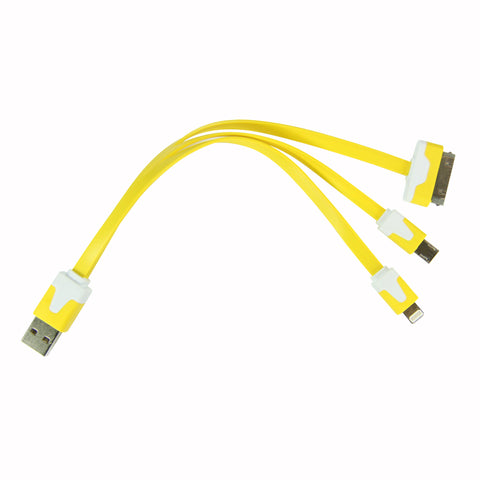 Flat whip USB cable - Yellow
